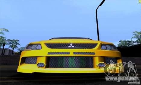 Mitsubishi Lancer Evolution IX 2006 pour GTA San Andreas vue de dessous