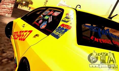 Mitsubishi Lancer Evolution VIII - ProSpeed pour GTA San Andreas sur la vue arrière gauche