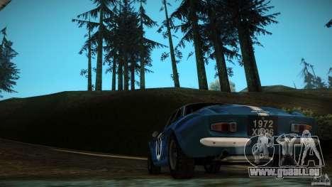 Renault Alpine A110 1600S Rally pour GTA San Andreas vue intérieure