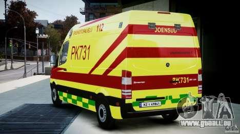Mercedes-Benz Sprinter PK731 Ambulance [ELS] für GTA 4 hinten links Ansicht