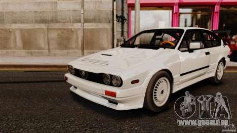 Alfa Romeo GTV6 1986 pour GTA 4