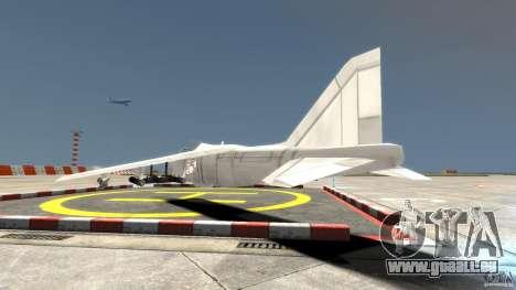 Liberty City Air Force Jet für GTA 4 hinten links Ansicht