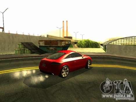 Audi TT 2009 v2.0 pour GTA San Andreas vue arrière