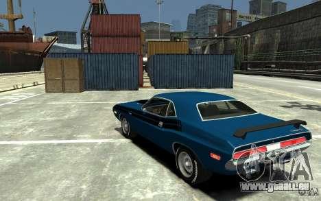 Dodge Challenger R/T Hemi 1970 pour GTA 4 Vue arrière de la gauche