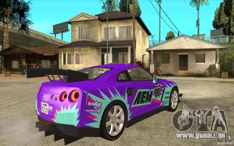 Nissan GT R Shift 2 Edition für GTA San Andreas Rückansicht