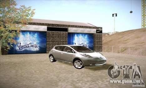 Nissan Leaf 2011 für GTA San Andreas rechten Ansicht