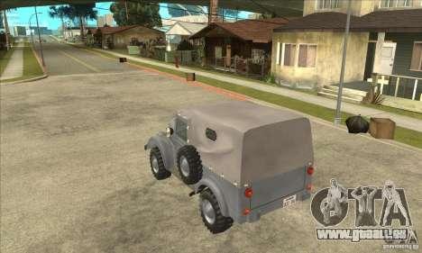 ARO M461 pour GTA San Andreas sur la vue arrière gauche