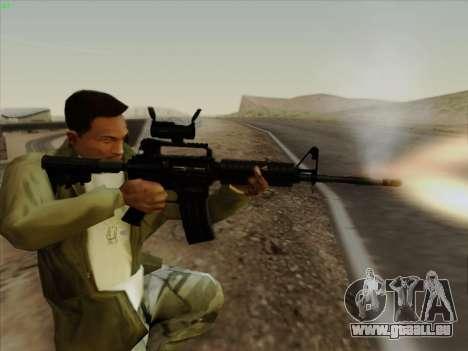 Colt Commando Aimpoint pour GTA San Andreas cinquième écran