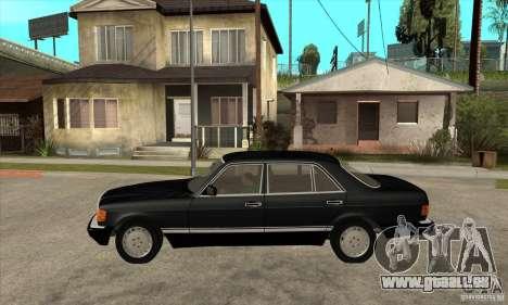 Mercedes Benz W126 560 v1.1 pour GTA San Andreas laissé vue