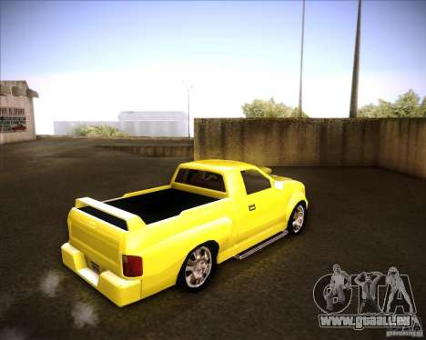 Dodge Dakota tuning pour GTA San Andreas sur la vue arrière gauche