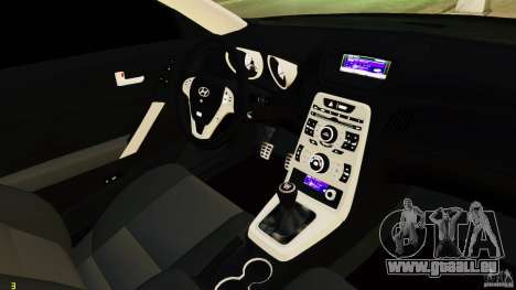 Hyundai Genesis Coupe 2010 pour GTA 4 est une vue de l'intérieur