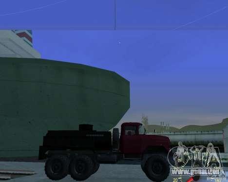 ZIL 131 pétrolier pour GTA San Andreas laissé vue