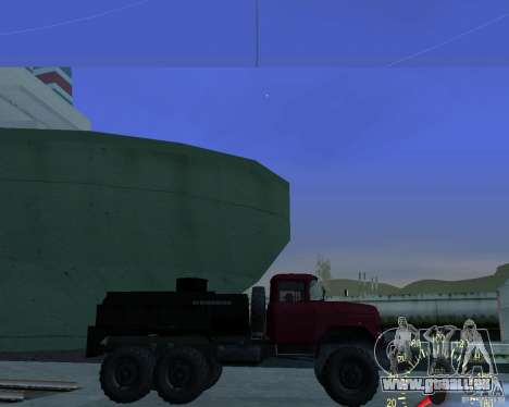 ZIL 131 Tankwagen für GTA San Andreas linke Ansicht