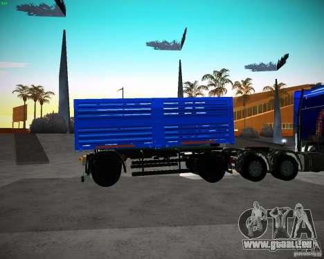 Remorque KAMAZ 65117 Grain pour GTA San Andreas laissé vue