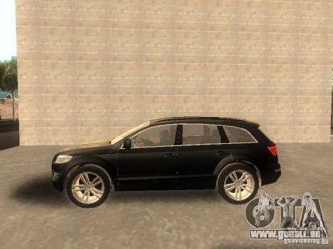Audi Q7 TDI Stock für GTA San Andreas linke Ansicht