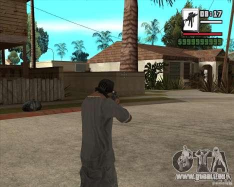 Sig550-m4 pour GTA San Andreas troisième écran