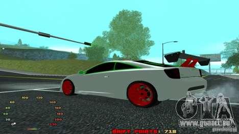 Toyota Celica v2 pour GTA San Andreas laissé vue