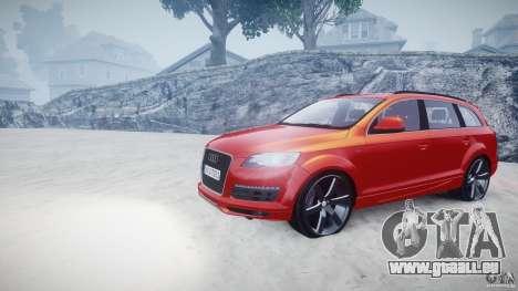 Audi Q7 LED Edit 2009 pour GTA 4 Vue arrière
