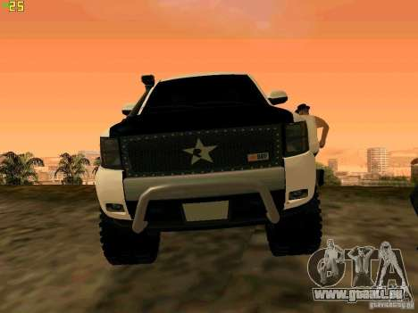 Chevrolet Silverado Final für GTA San Andreas Rückansicht