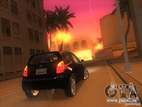 Citroen C2 pour GTA San Andreas laissé vue