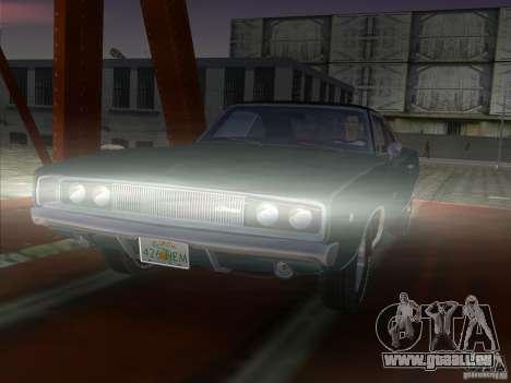 Dodge Charger 426 R/T 1968 v1.0 pour GTA Vice City sur la vue arrière gauche