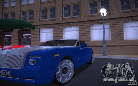 Rolls-Royce Phantom Drophead Coupe für GTA San Andreas Rückansicht