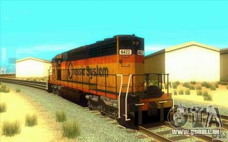 Chessie System sd40-2 für GTA San Andreas zurück linke Ansicht