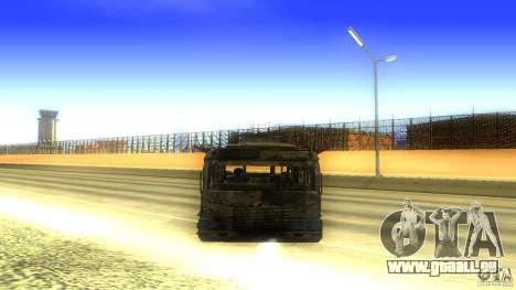 Frontline - MilBus für GTA San Andreas Rückansicht