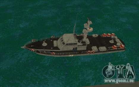 Militärische Boot vom CODMW3 für GTA San Andreas linke Ansicht