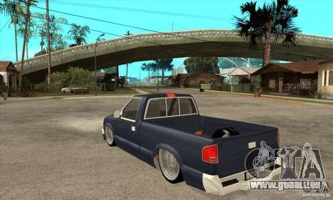 Chevrolet S-10 1996 Draggin pour GTA San Andreas sur la vue arrière gauche