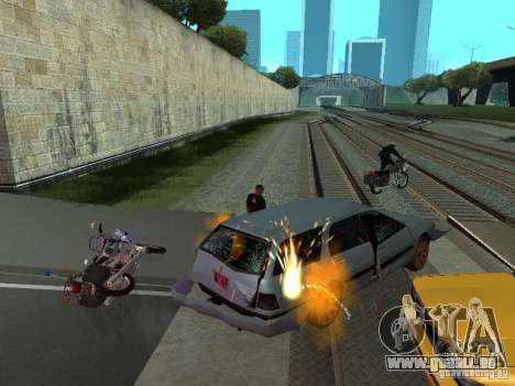 Die realistische Blast-Maschinen für GTA San Andreas dritten Screenshot