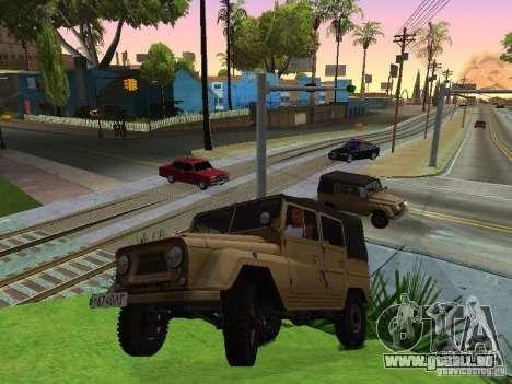 UAZ 460 pour GTA San Andreas vue de droite