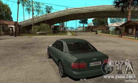 Audi A8 Long 6.0 2000 für GTA San Andreas zurück linke Ansicht