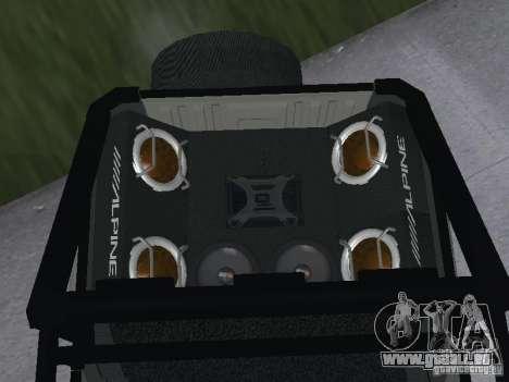 UAZ-3159 pour GTA San Andreas sur la vue arrière gauche