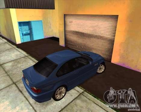 BMW M3 E46 stock pour GTA San Andreas vue arrière