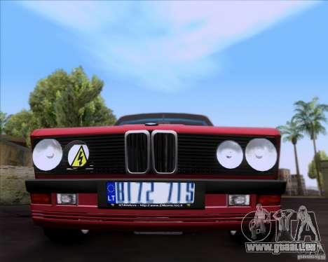 BMW 5-er E28 pour GTA San Andreas vue de côté