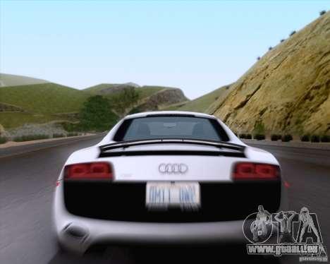 Audi R8 v10 2010 pour GTA San Andreas vue arrière