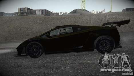 Lamborghini Gallardo LP560-4 GT3 pour GTA San Andreas laissé vue