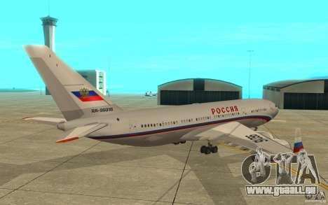 L'IL-96 300 STC Russia pour GTA San Andreas vue de droite