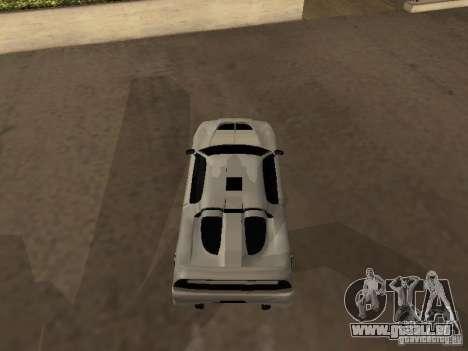 Infernus GT pour GTA San Andreas sur la vue arrière gauche