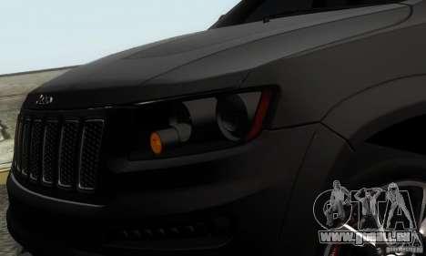 Jeep Grand Cherokee SRT8 pour GTA San Andreas sur la vue arrière gauche