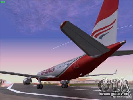 Tupolev Tu-204 Red Wings Airlines für GTA San Andreas zurück linke Ansicht