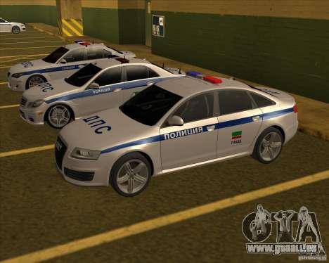 Audi RS6 2010 DPS pour GTA San Andreas sur la vue arrière gauche