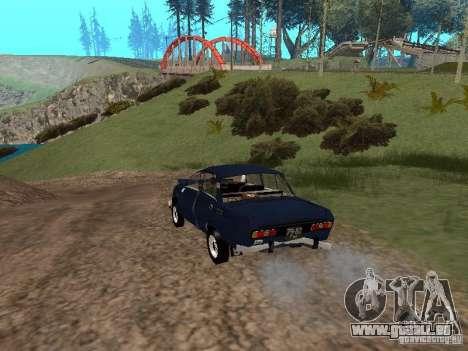 Moskvich en lambeaux pour GTA San Andreas vue de droite