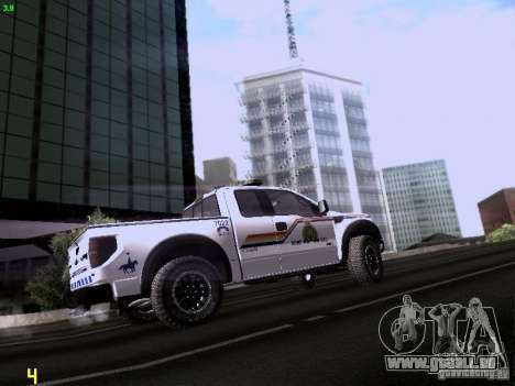 Ford Raptor Royal Canadian Mountain Police für GTA San Andreas Rückansicht