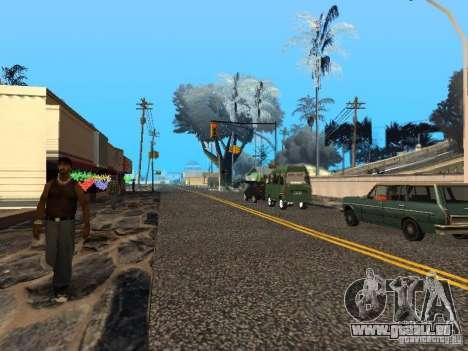 Nouvel an à la rue Grove pour GTA San Andreas cinquième écran