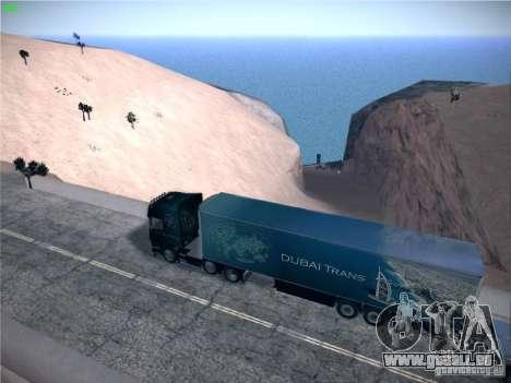 Remorque pour Scania R620 Dubaï Trans pour GTA San Andreas laissé vue