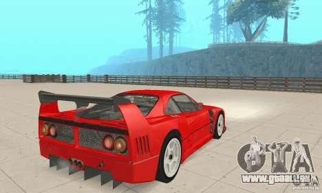 Ferrari F40 Competizione für GTA San Andreas linke Ansicht