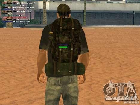 Military backpack pour GTA San Andreas troisième écran