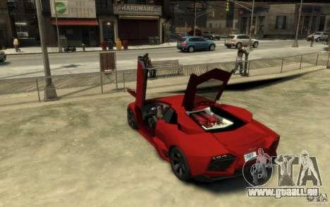 Lamborghini Reventon Coupe pour GTA 4 Vue arrière de la gauche